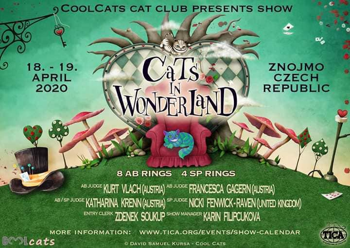 Cats in Wonderland (TICA) - 18. - 22. dubna 2020